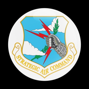 Magnetic Car Grille Dome Badge-Flag Strategic Air command