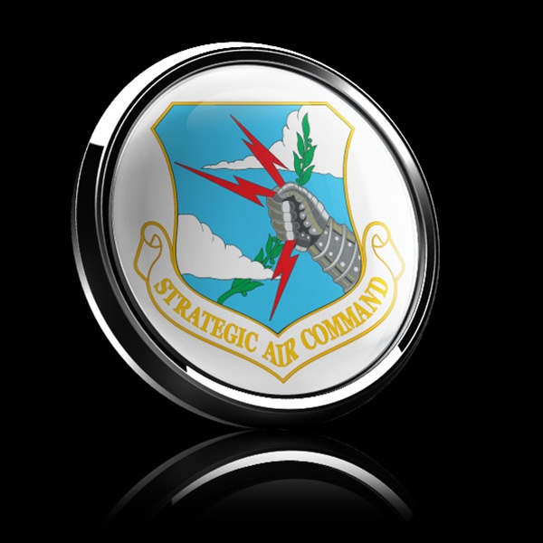 Magnetic Car Grille Dome Badge Flag Strategic Air Command