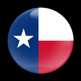 Magnetic Car Grille Dome Badge-Flag Texas US State