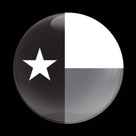 Magnetic Car Grille Dome Badge-Flag Texas BlackJack
