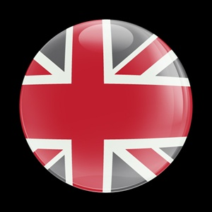 Magnetic Car Grille Dome Badge-UnionJack Red Gray