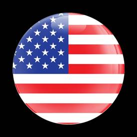 Magnetic Car Grille Dome Badge-Flag US