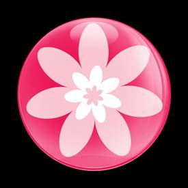Magnetic Car Grille Dome Badge-Flower 01