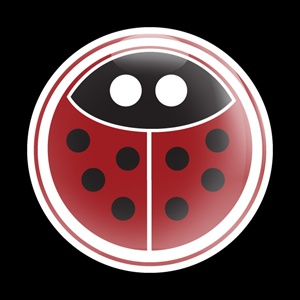 Magnetic Car Grille Dome Badge-Girl 18 Ladybug