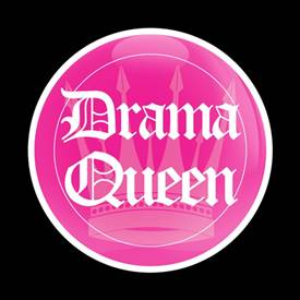 Magnetic Car Grille Dome Badge-Drama Queen