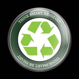 Magnetic Car Grille Dome Badge-Go Green 18