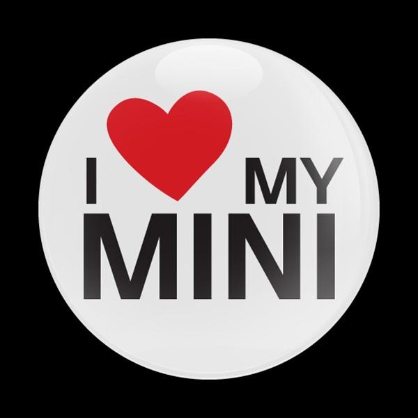 Dome Badge I Love My Mini