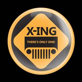 Magnetic Car Grille Dome Badge-Jeep XING