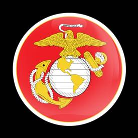 Magnetic Car Grille Dome Badge-Military Marine