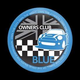 Magnetic Car Grille Dome Badge-MINI Owners Club Blue