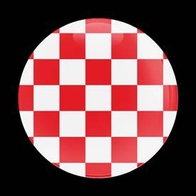 Magnetic Car Grille Dome Badge-Flag Checker Red