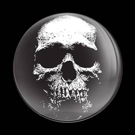 Magnetic Car Grille Dome Badge-Skull 02
