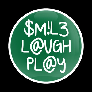 Magnetic Car Grille Dome Badge-Smile Laugh Play