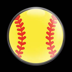Magnetic Car Grille Dome Badge-Sports Softball