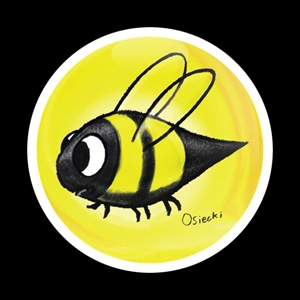 Magnetic Car Grille Dome Badge-Swirl Bee