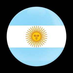 Magnetic Car Grille Dome Badge-Flag Argentinian
