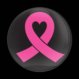 Magnetic Car Grille Dome Badge-Pink Ribbon 02