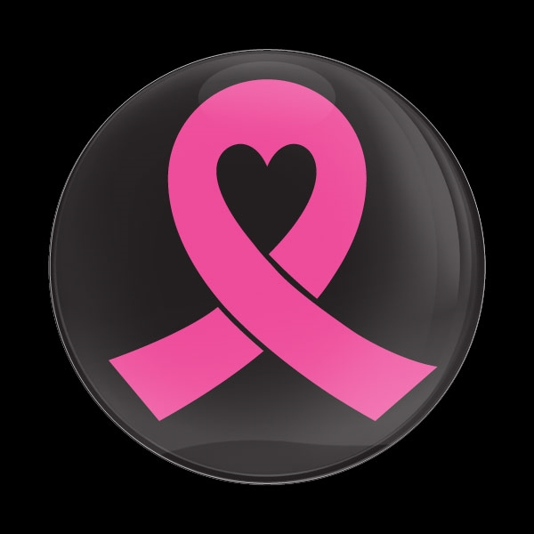 Very Dome Badge-Pink Ribbon 02 ZD37