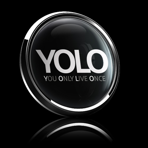 Dome Badge Sign Yolo Black