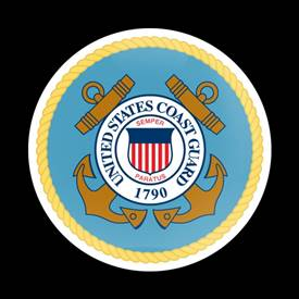 Magnetic Car Grille Dome Badge-Military USCG