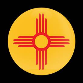 Magnetic Car Grille Dome Badge-Flag New Mexico US State