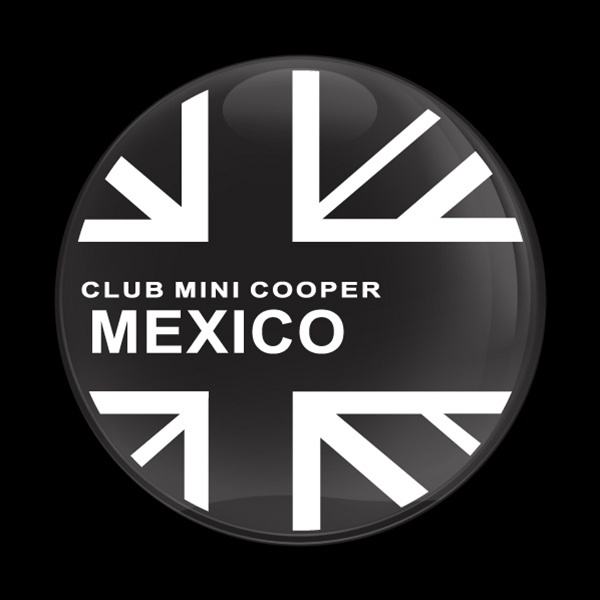 dome badge club mini cooper mexico club mini cooper mexico
