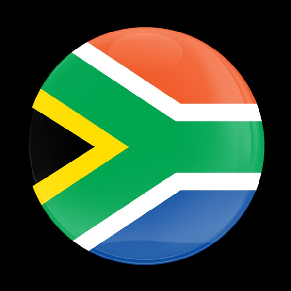 Dome Badge Flag South Africa