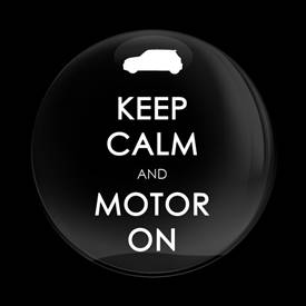 Magnetic Car Grille Dome Badge-Keep Calm and Motor On