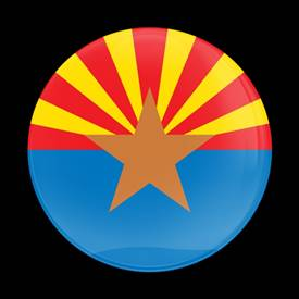 Magnetic Car Grille Dome Badge-Flag Arizona US State