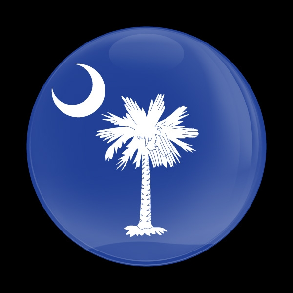 Dome Badge Flag South Carolina Us State