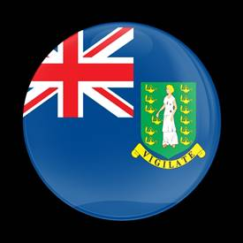 Magnetic Car Grille Dome Badge-Flag British Virgin Island