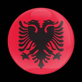 Magnetic Car Grille Dome Badge-Flag Albanian