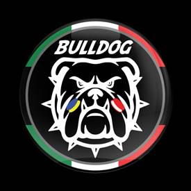 Magnetic Car Grille Dome Badge-Club MINI Bulldog Italy 01