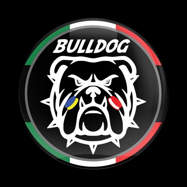 Dome Badge Club Mini Cooper Mexico: Dome Badge-Club MINI Bulldog Italy 01