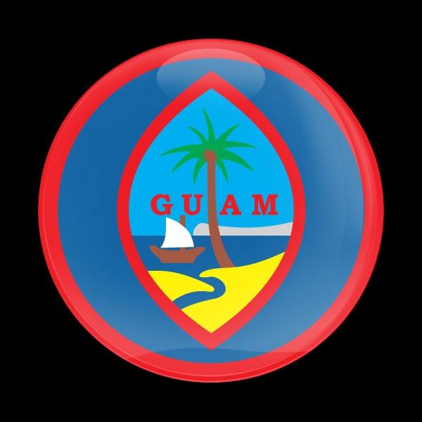 Dome Badge Flag Guam