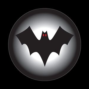 Magnetic Car Grille Dome Badge-Seasonal Halloween Bat