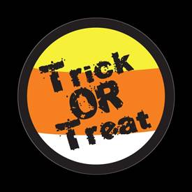 Magnetic Car Grille Dome Badge-Seasonal Halloween Trick or Treat