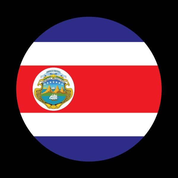 Dome Badge Flag Costa Rica