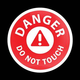 Magnetic Car Grille Dome Badge-Danger Do Not Touch