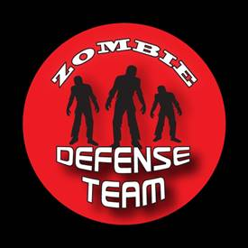 Magnetic Car Grille Dome Badge-Zombie Defense Team 1