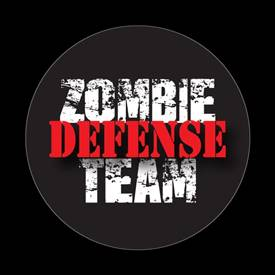 Magnetic Car Grille Dome Badge-Zombie Defense Team 2