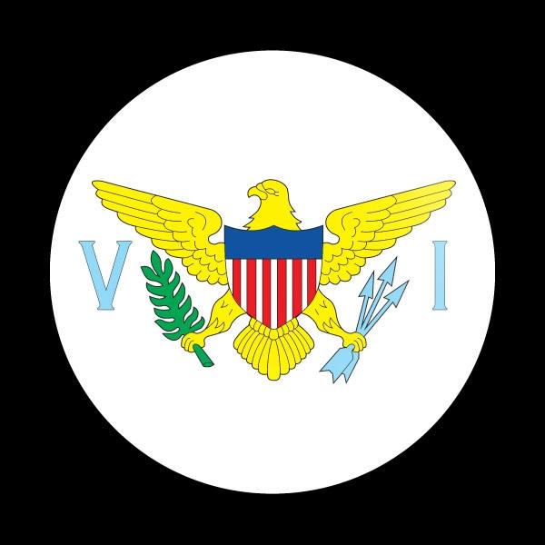 Dome Badge Flag Us Virgin Islands