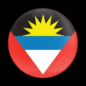 Magnetic Car Grille Dome Badge-Flag Antigua Barbuda
