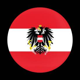 Magnetic Car Grille Dome Badge-Flag Austria