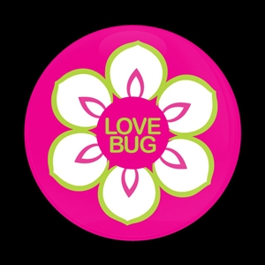 Magnetic Car Grille Dome Badge-Love Bug Flower