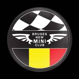 Magnetic Car Grille Dome Badge-Club Bruges New MINI
