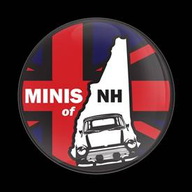 Magnetic Car Grille Dome Badge-Club MINIS of NH