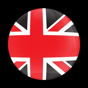 Magnetic Car Grille Dome Badge-Flag UK Red Jack