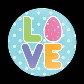 Magnetic Car Grille Dome Badge-Seasonal Easter Love