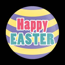 Magnetic Car Grille Dome Badge-Seasonal Happy Easter